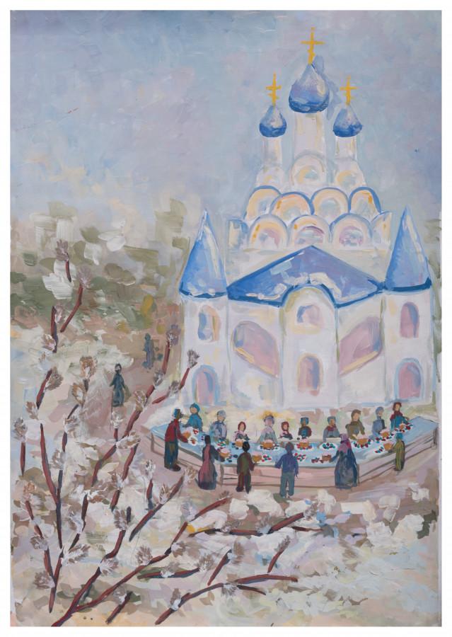5. Рычкова Александра, 15 лет. Тайнинская церковь