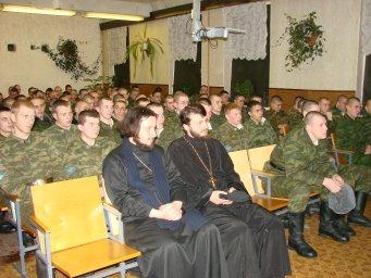 Концерт в воинской части 084
