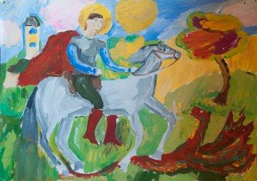 «Святой Георгий Победоносец» Кузьмин Георгий, 10 лет
