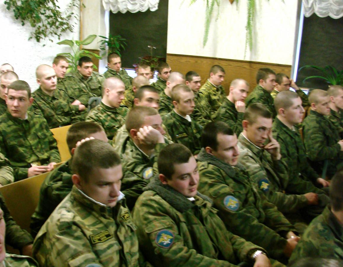 Концерт в воинской части 064
