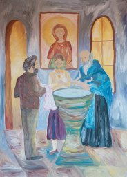 «Крещение» Гвоздикова Елена, 13 лет, 3 место
