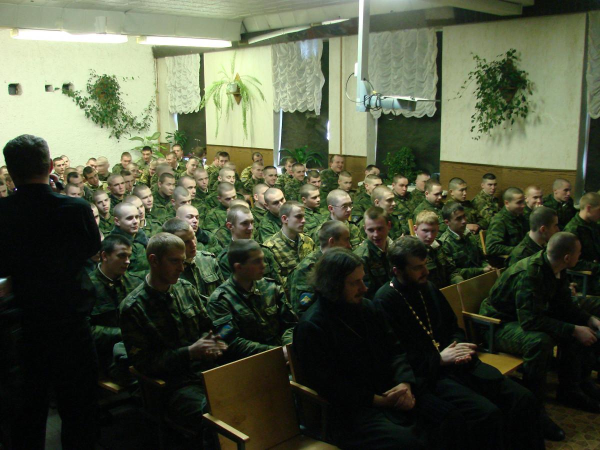 Концерт в воинской части 088