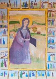 «Богородица с житием» Кочеткова Ирина, 13 лет